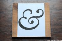 DIY Ampersand Wall Art Using Thumbtacks ...