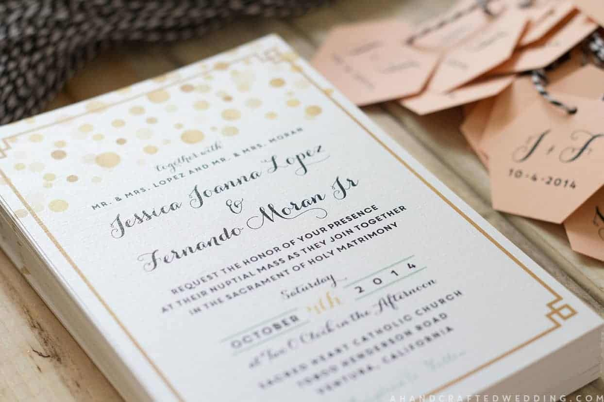 Diy Wedding Invitations With Photo Modern Diy Wedding Invitations Mountainmodernlife