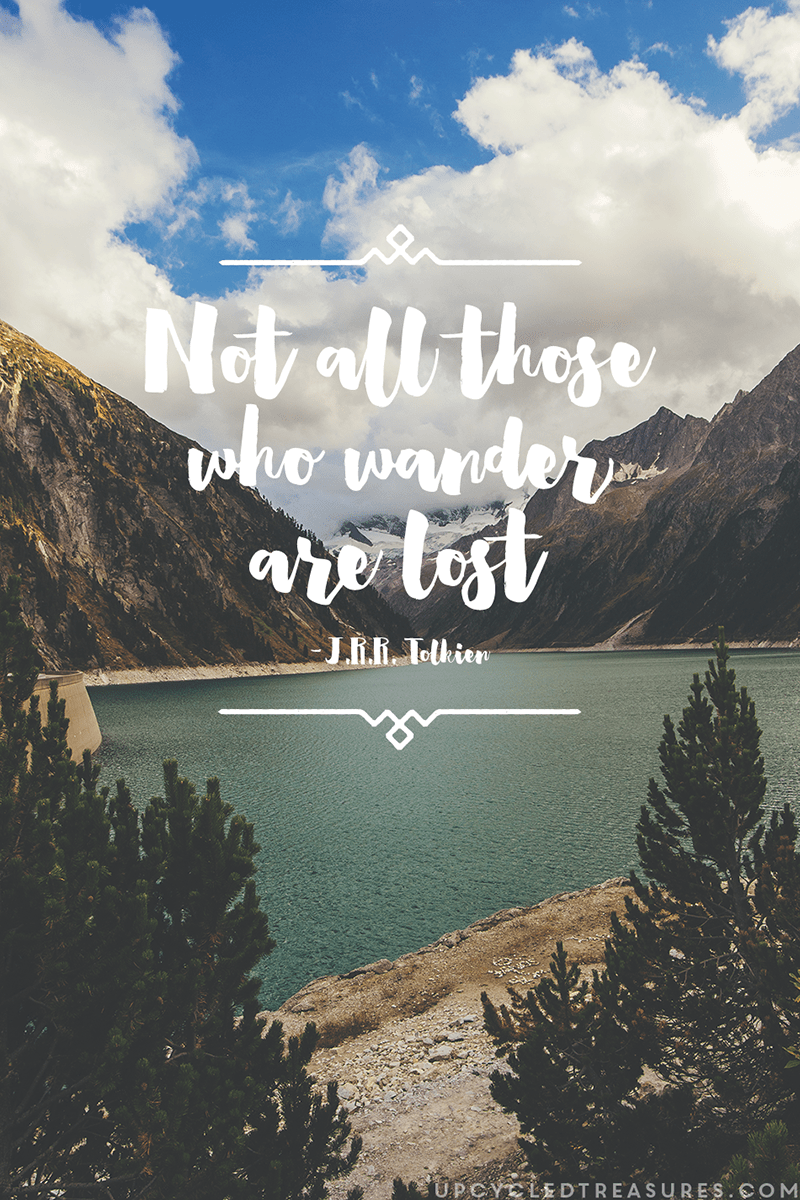 Desktop Wallpaper Tolkien Quote Not All Those Who Wander Are Lost Mountainmodernlife Com