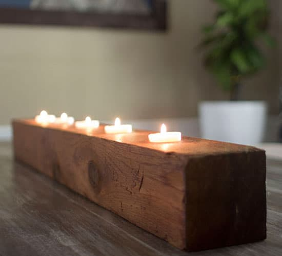 DIY Rustic Tea Light Candle Holder mountainmodernlife.com