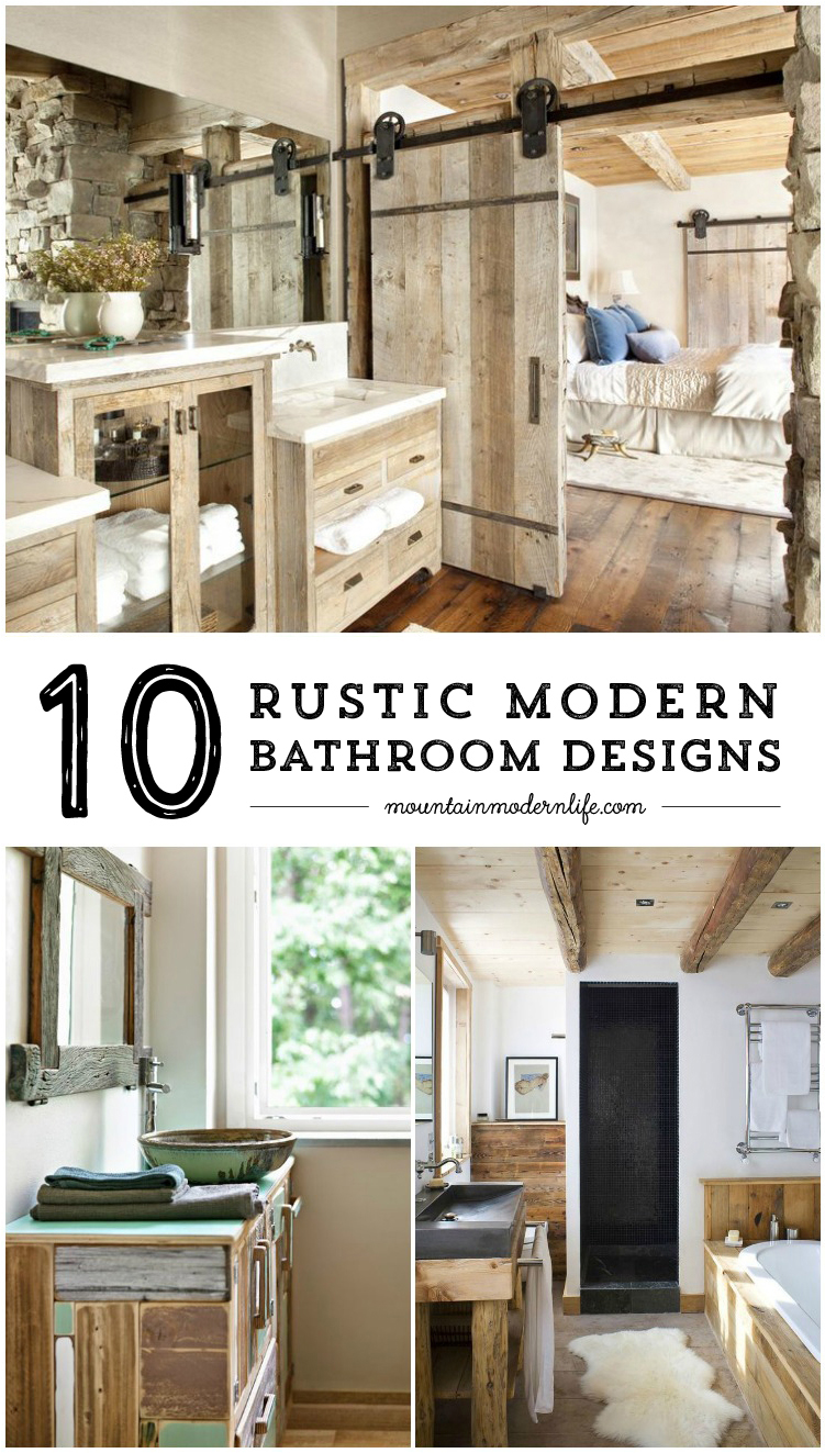 Rustic modern bathroom designs mountain modern life for Modern rustic house designs