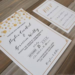 Printable Modern Gold Invitation Set