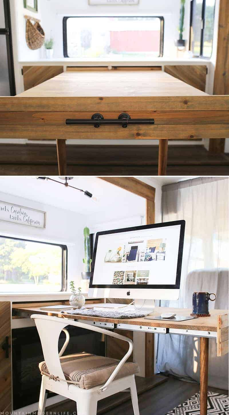 Hidden Desk Space Saving Diy Pull Out Table Mountainmodernlife