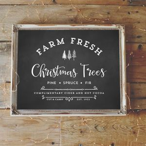 Farm Fresh Christmas Trees Printable