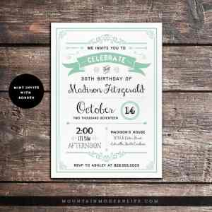 rustic-birthday-invitation-mint-border-mountainmodernlife-com