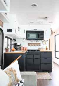 Painted RV Kitchen Cabinets | MountainModernLife.com