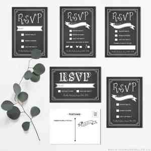Printable Rustic RSVP Card Templates | MountainModernLife.com