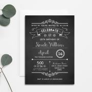 Chalkboard DIY Birthday Invitation | MountainModernLife.com