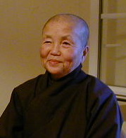 Sister Chan Khong in Plum Village 2000