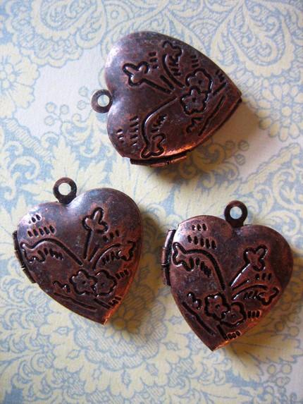 vintage bronze hearts