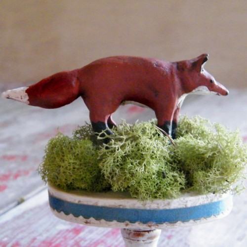 red fox wedding cake topper