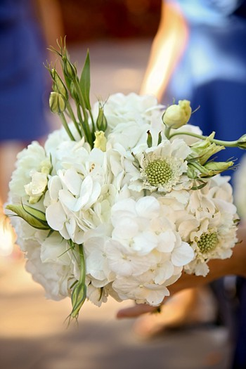 pretty white bridesmaid bouquet