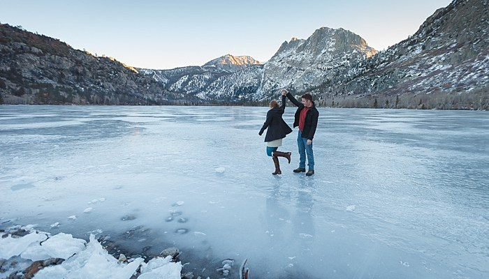 June Lake Engagement Session Near Mammoth Lakes
