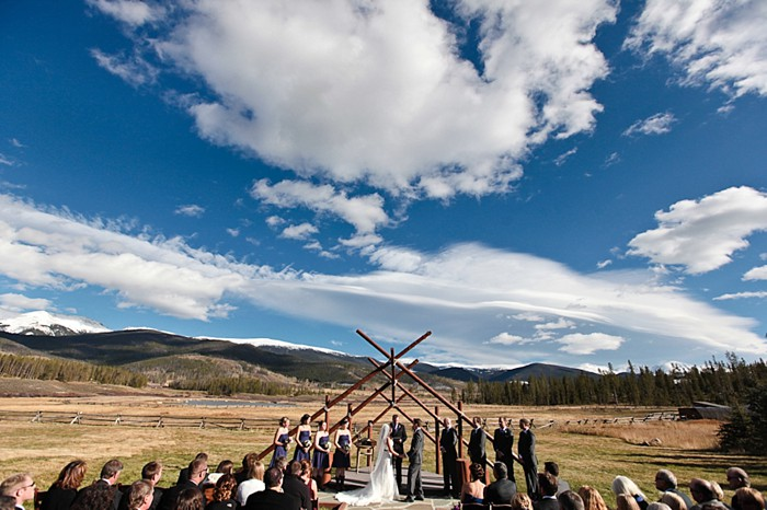 11-Devils-Thumb-Ranch-wedding-Becky-Young Photography-ceremony-wide-from-behind