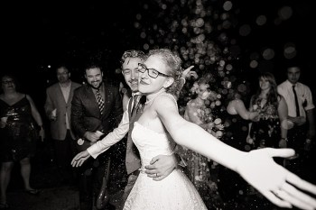 exit throwing rice western North Carolina handmade wedding by Shutter Love Photography