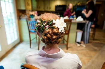 hair and makeup western North Carolina handmade wedding by Shutter Love Photography