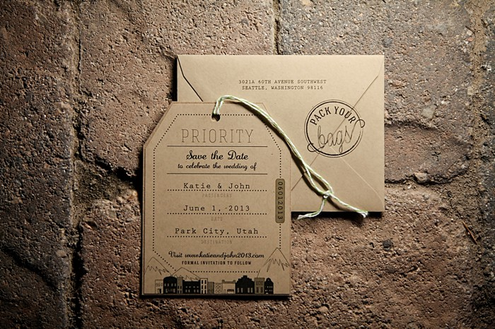 modern brown wedding stationary | Deer Valley Utah Wedding |  Pepper Nix Photography