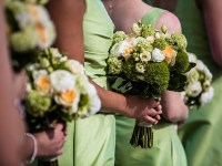 Pretty Green, White + Gold Wedding at the Mount Washington Hotel
