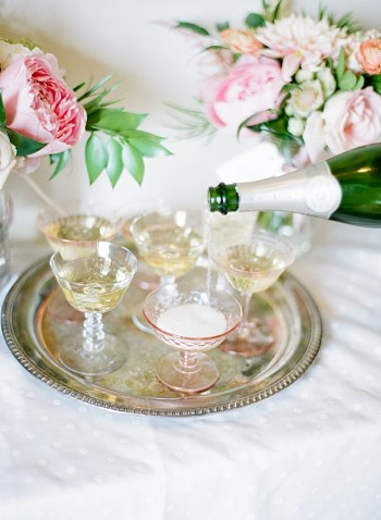 champagne | Estes Park Blush Pink Wedding | Photography by Connie Whitlock