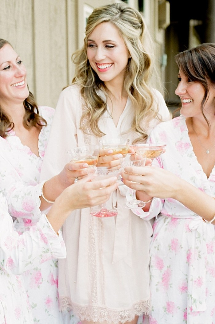 Floral bridesmaids robes ideas | Estes Park Blush Pink Wedding | Photography by Connie Whitlock