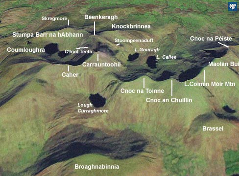 Cnoc Na Toinne 845m Mountain Macgillycuddy39s Reeks Ireland At Mountainviewsie