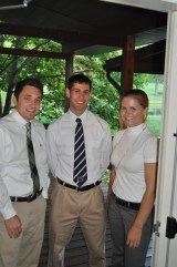 Left-right:Vinnie Amendolare, Nick Baccash, Val Dames (not pictured Erin Ball)