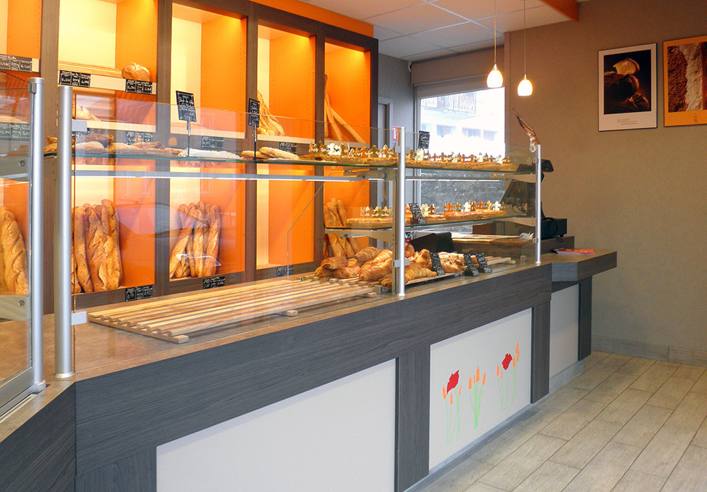 Eclairage Led Magasin Mourot Agencement » Boulangerie