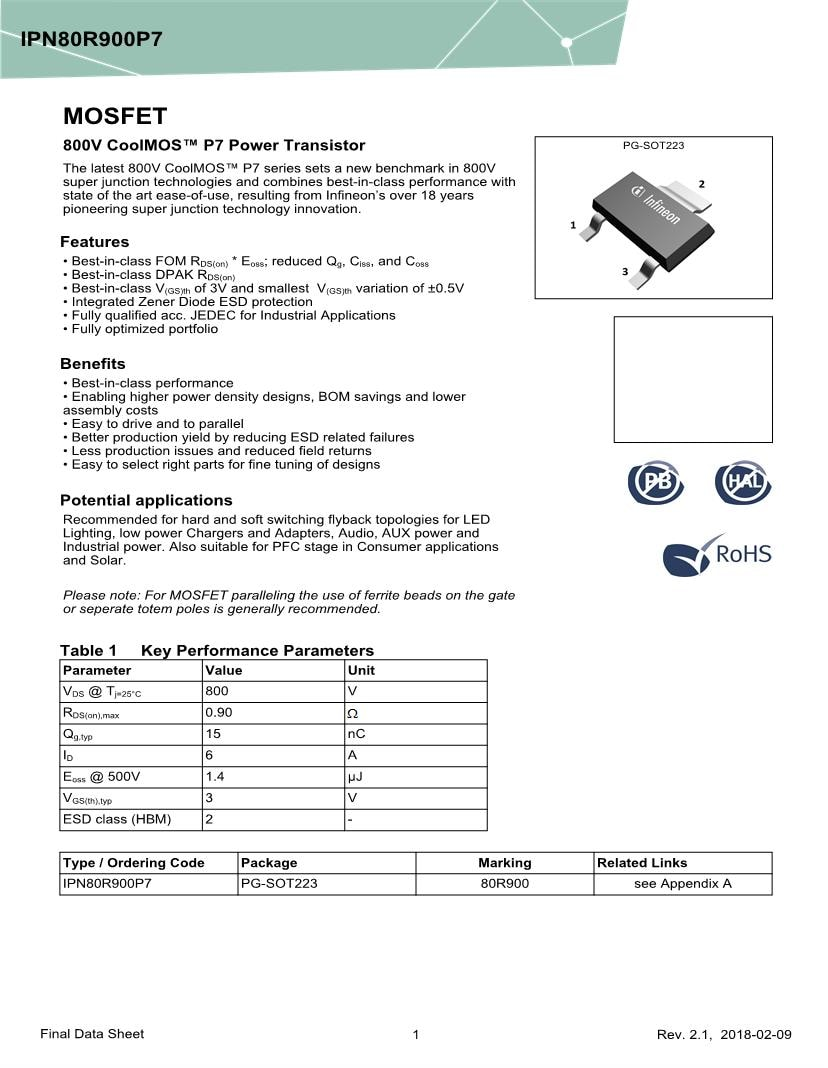 Easy Select Vs Super Select 176339186 Infineon Mosfet Datasheets Mouser United Kingdom