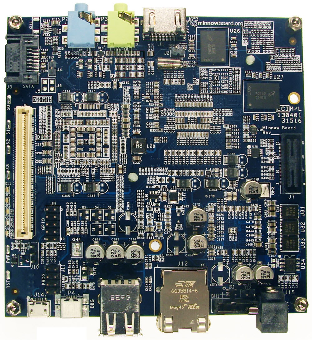 Cpu Sockel 1156 Minnowboard With Intel Atom Processor Circuitco Mouser Deutschland
