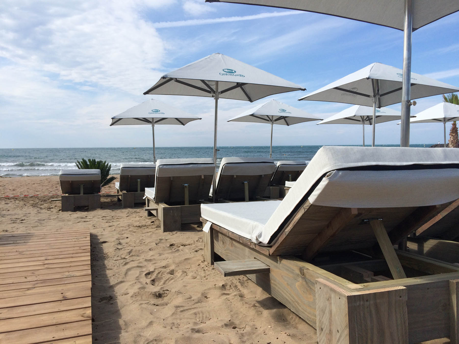 Bache Parasol Sunshades Private Beaches Professional Sunshades France