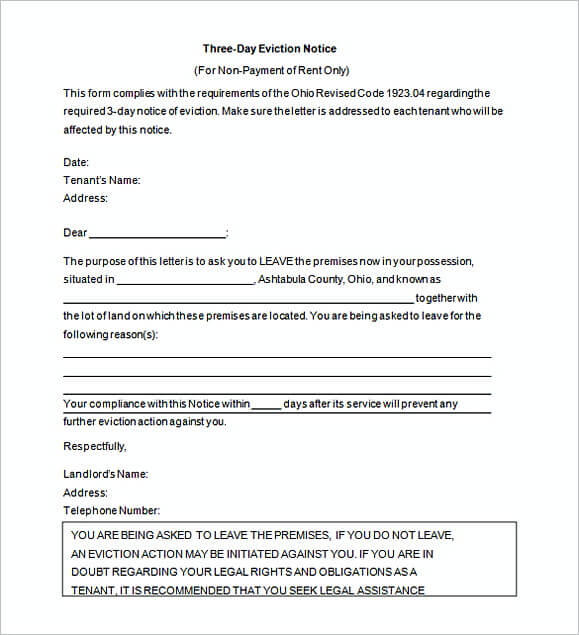 eviction notice letter - Pinarkubkireklamowe