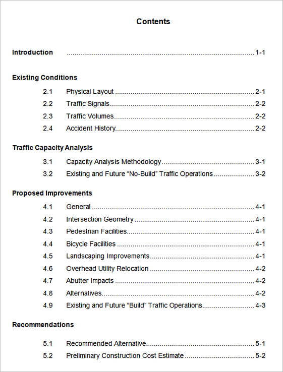 20+ Table of Contents Template Mous Syusa