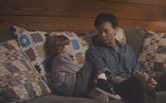 """Sebastian Banes and Patrick Wang in """"In the Family"""""""