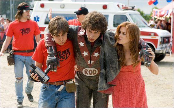 """Jorma Taccone, Andy Samberg and Isla Fisher in a scene from Akiva Schaffer/Lonely Island film """"Hot Rod"""""""