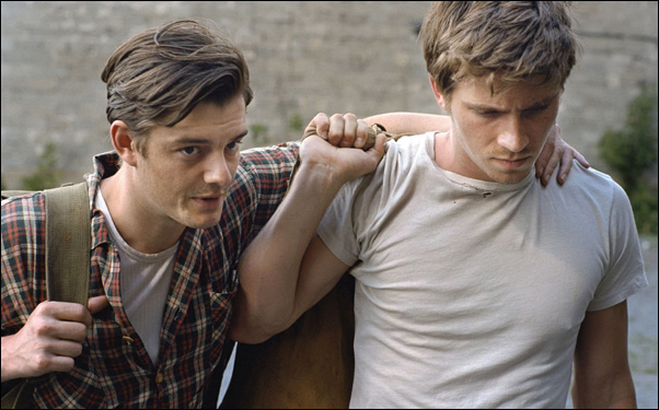 "Sam Riley and Garrett Hedlund in a scene from Walter Salles' adaptation film of Jack Kerouac's ""On The Road"""