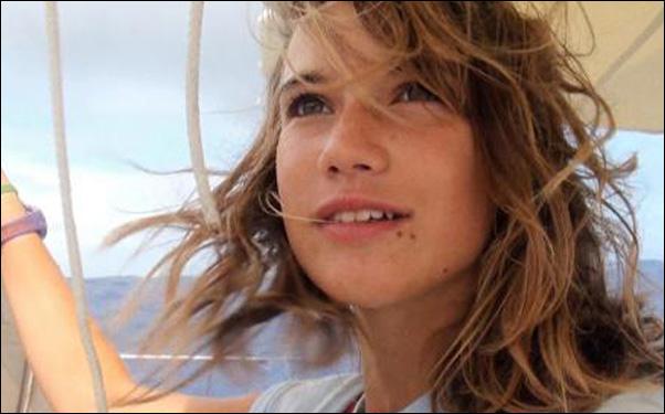 Laura Dekker on her trip around the world in a scene from Jillian Schlesinger's documentary film Maidentrip