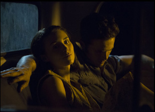 "Rooney Mara and Casey Affleck in ""Ain't Them Bodies Saints"""