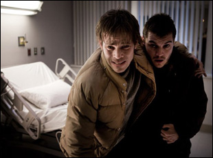 """Stephen Dorff and Emile Hirsch in """"The Motel Life"""""""