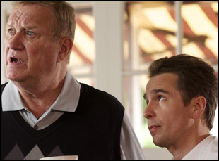 "Ken Howard and Sam Rockwell in ""Better Living Through Chemistry"""