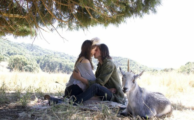"""Natalia Dyer and Peter Vack in """"I Believe in Unicorns"""""""