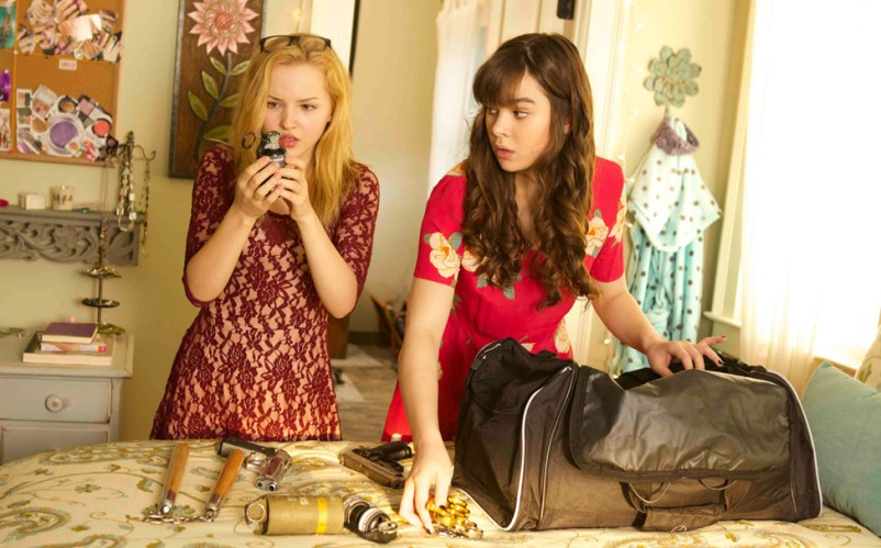 """Dove Cameron and Hailee Steinfeld in """"Barely Lethal"""""""