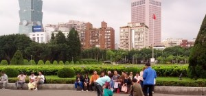 People in a Park in Taiwan
