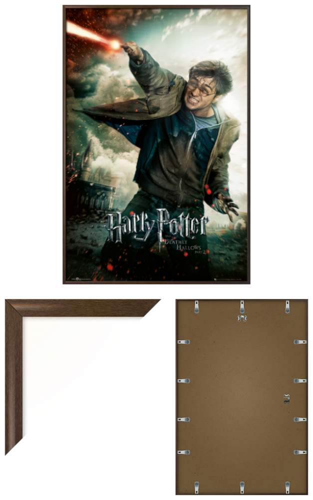 Wand Poster Harry Potter And The Deathly Hallows Part 2 - Framed Movie