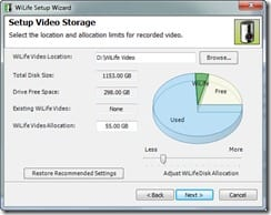Logitech Video Storage Setup