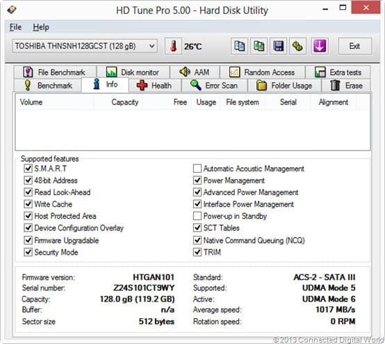 CDW review of the Toshiba HNSNH128GBST SSD - 3
