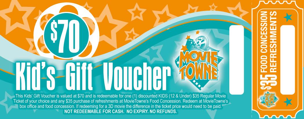 Gift Vouchers MovieTowne MovieTowne