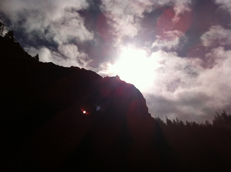 Sun's Behind a Rock