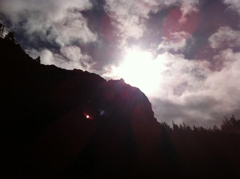 Sun's Behind a Rock