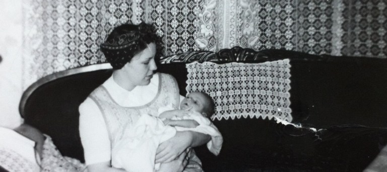Grandma holding her baby - photo