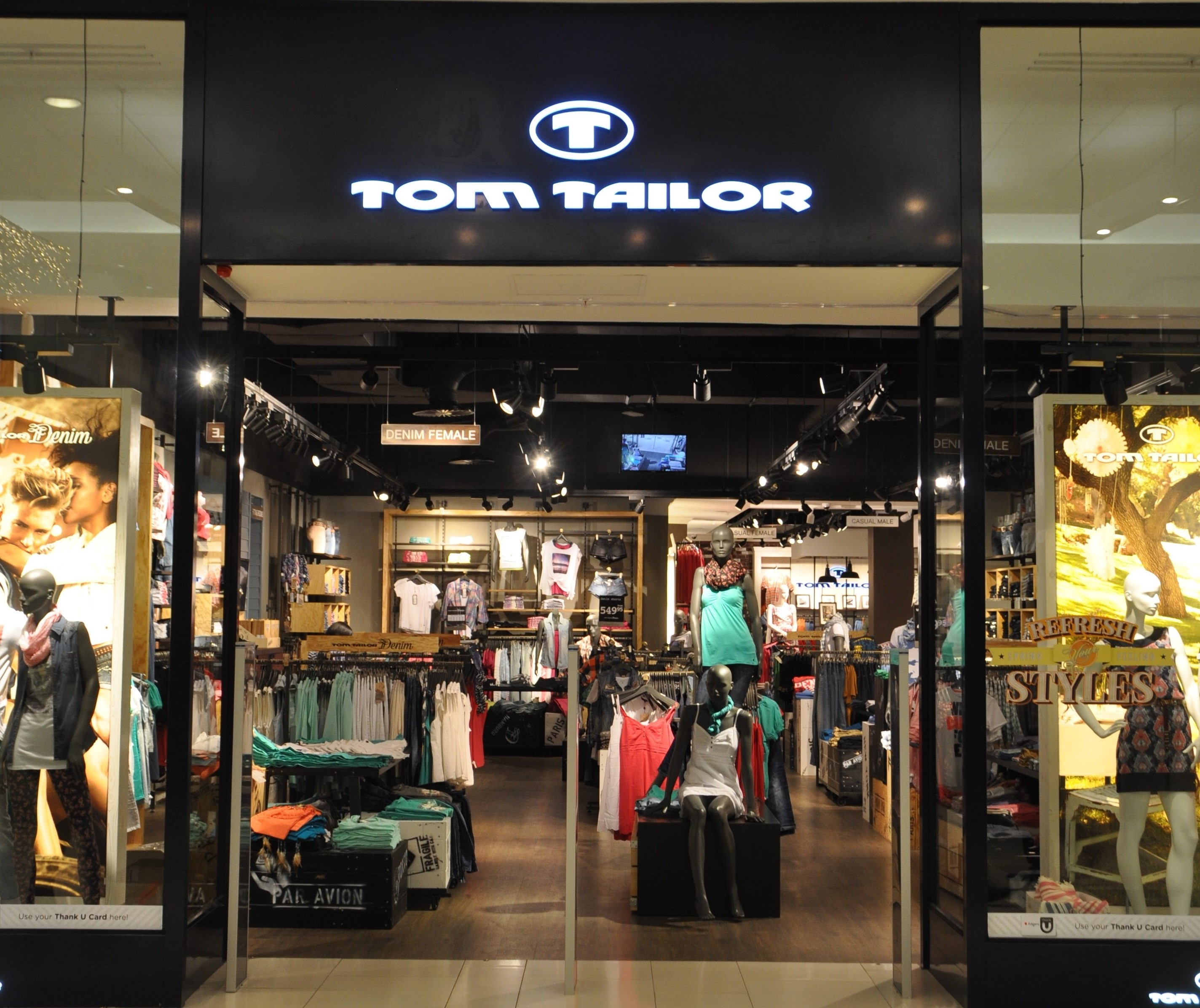Tom Railor In Store Audio And Digital Signage Solution In Tom Tailor